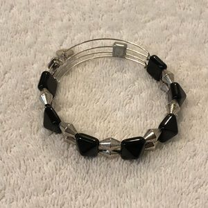 Alex and Ani black and silver stud bracelet